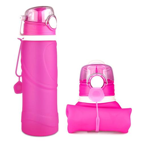 MyFriday Foldable Silicone Travel Water Bottle BPA Free 750ml - Pink