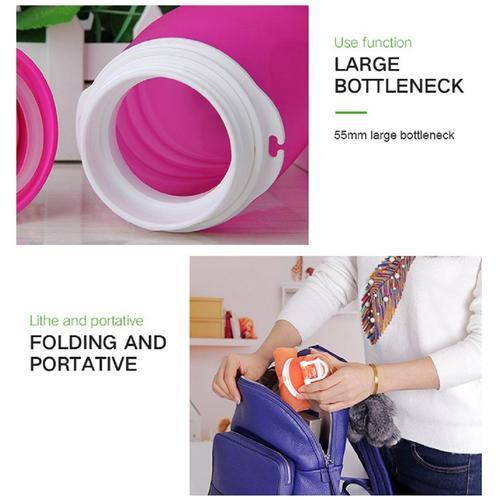 MyFriday Foldable Silicone Travel Water Bottle BPA Free 750ml - Orange