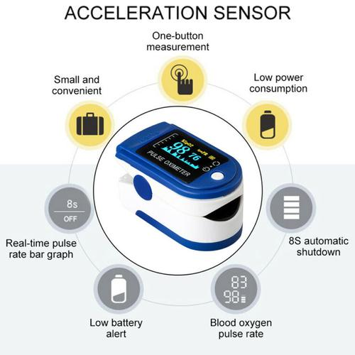 Fingertip Pulse Oximeter Blood Oxygen Saturation SPO2 Meter