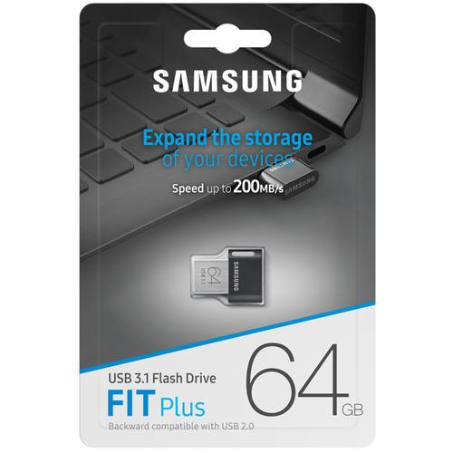 Samsung 64GB Fit Plus USB 3.1 Flash Drive - 200MB/s