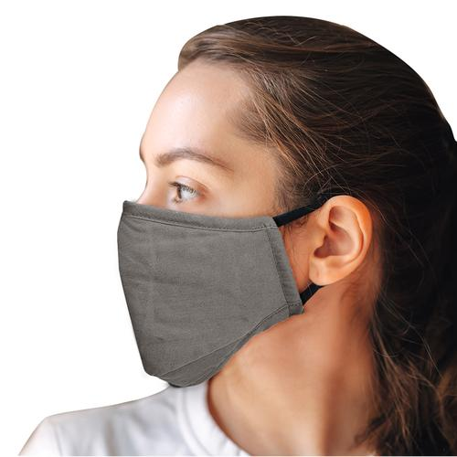 Washable Full Fabric Fashion Face Mask + 2 PM2.5 Filters - Grey