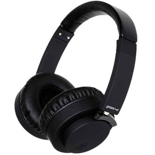 Groov-e Fusion Wireless or Wired Stereo Headphones - Black