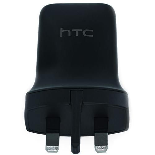 HTC 1.5A USB Mains Charger + USB-C Data Cable - Black