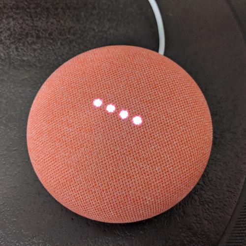 Google Nest Mini 2nd Generation - Coral (Official UK Version)