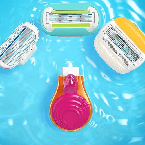 Gillette Venus Snap Women's Portable Razor With Case and 4 Blades Pack