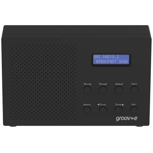 Groov-e Paris Portable DAB/FM Digital Radio - Black
