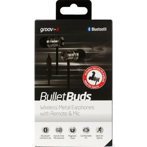 Groov-e Bullet Buds Wireless Metal Earphones - Silver