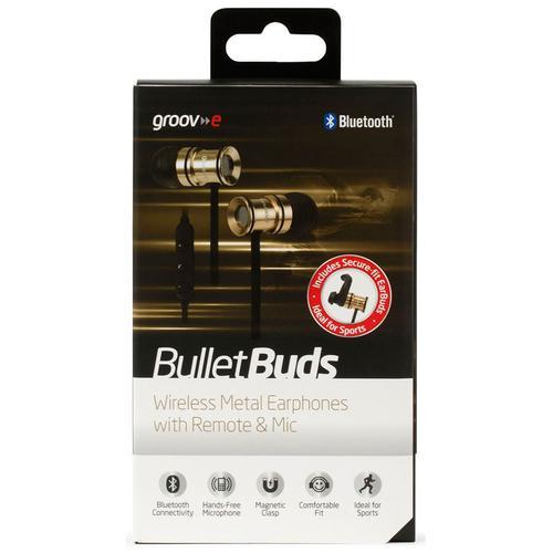 Groov-e Bullet Buds Wireless Metal Earphones - Gold
