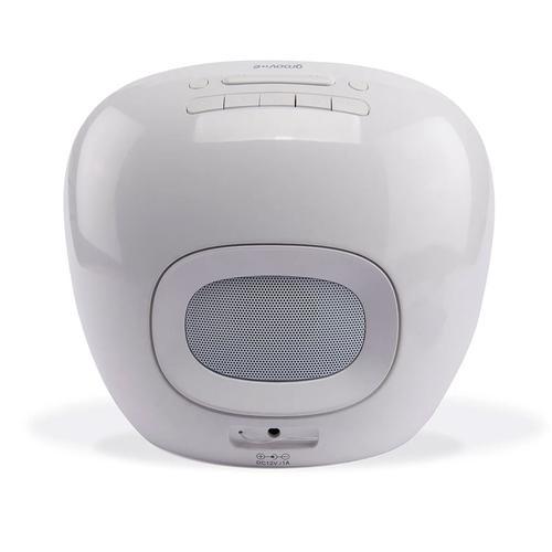 Groov-e Light Curve Wake Up Light with FM Radio & Alarm Clock - White