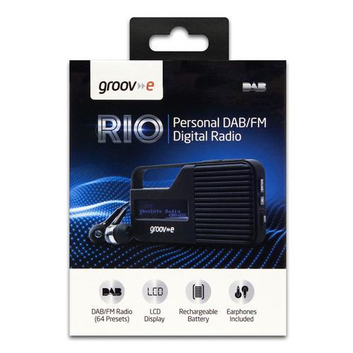 Groov-e Rio Personal DAB/FM Digital Radio - Black