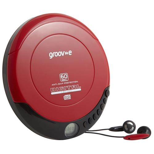 Groov-e Retro Series Personal CD Player - Red
