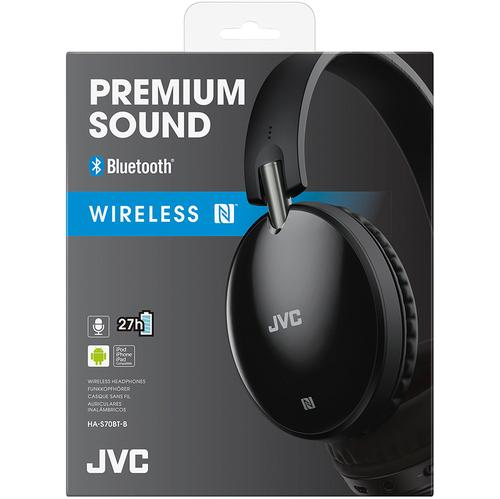 JVC Premium Sound Wireless Bluetooth Around Ear Headphones - Black