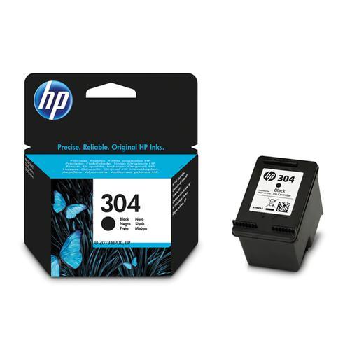 HP 304 Original Black Ink Cartridge (N9K06AE) - Single Pack
