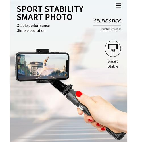 3-in-1 Handheld Selfie Stick Grip Stabiliser Mobile Phone Tripod with Remote