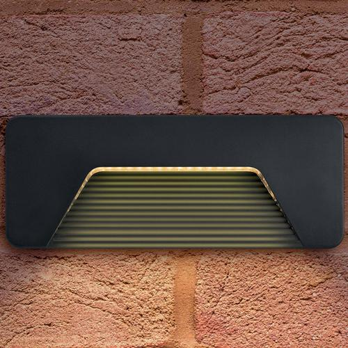 Integral Outdoor PathLux Surface Brick Light 3w (150lm) Warm White - Dark Grey