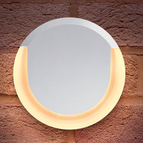 Integral Outdoor Lunox LED Large Wall Light 13W 3000K (Warm Light) IP54 - White