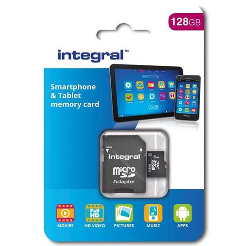 Integral 128GB Micro SD Card (SDXC) - 80MB/s