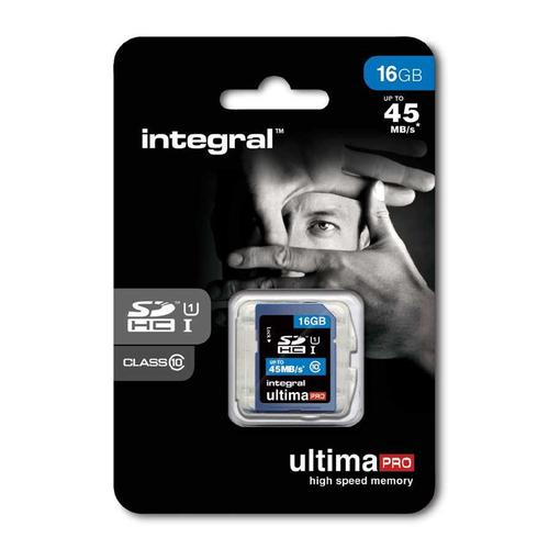 Integral 16GB UltimaPRO SD Card (SDHC) - 45MB/s