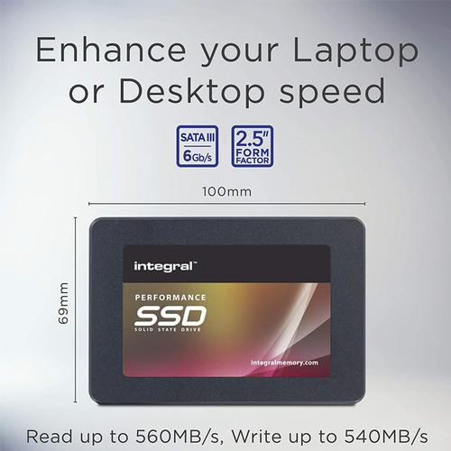 """Integral 240GB P Series 5 SATA III 2.5"""" SSD Drive - 560MB/s"""