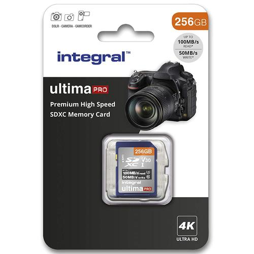 Integral 256GB UltimaPRO V30 Premium SD Card (SDXC) UHS-I U3 - 100MB/s