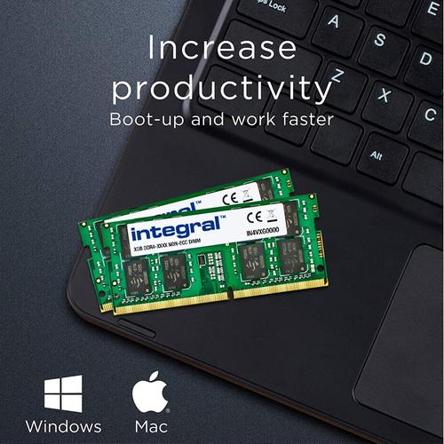 Integral 32GB (2x16GB) 2400MHz DDR4 SODIMM Laptop Memory Module Kit