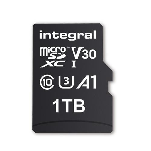 Integral 1TB UltimaPRO A2 V30 High Speed Micro SD Card (SDXC) UHS-I U3 + Adapter - 180MB/s