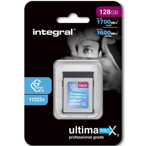 Integral 128GB UltimaPro X2 CFExpress Cinematic Memory Card Type B 2.0