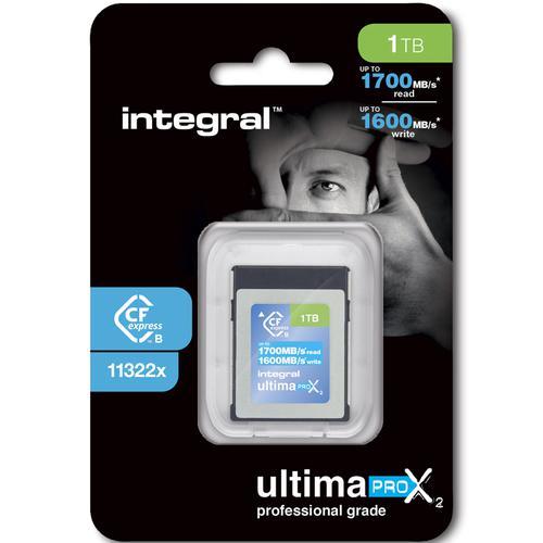 Integral 1TB UltimaPro X2 CFExpress Cinematic Memory Card Type B 2.0