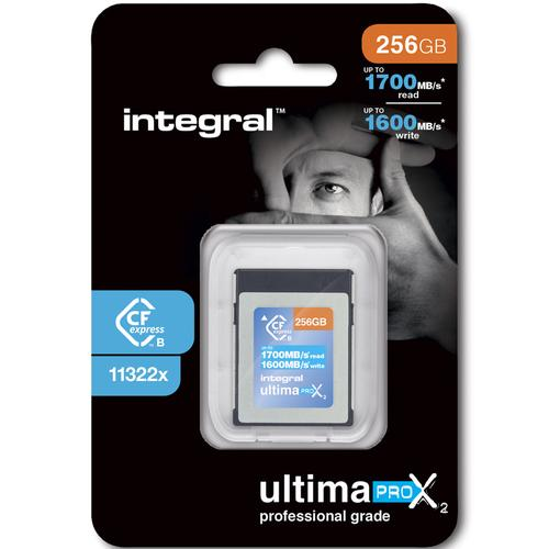 Integral 256GB UltimaPro X2 CFExpress Cinematic Memory Card Type B 2.0