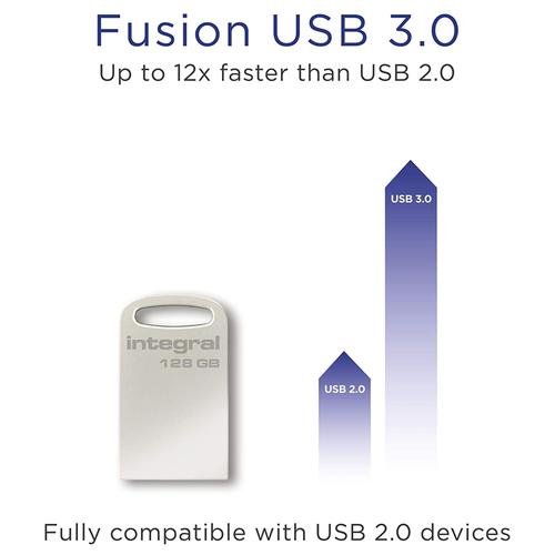Integral 128GB Fusion USB 3.0 Flash Drive - 200MB/s