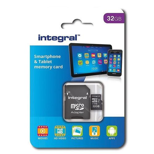 Integral 32GB Micro SD Card (SDHC) UHS-I U1 + Adapter - 90MB/s