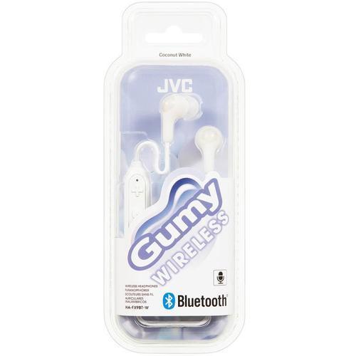 JVC Gumy Wireless In Ear Headphones - White