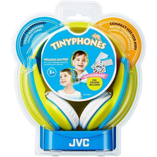 JVC Tinyphones Headphones - Yellow / Blue