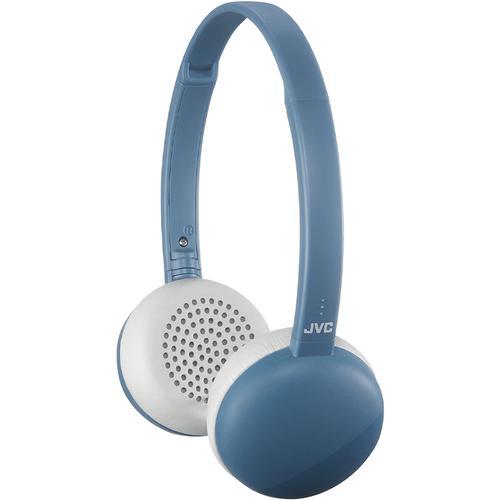 JVC Flats Wireless Bluetooth Headphones (S20BT) - Blue