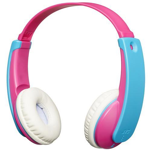 JVC TinyPhones Kids Wireless Bluetooth Headphones - Pink/Blue