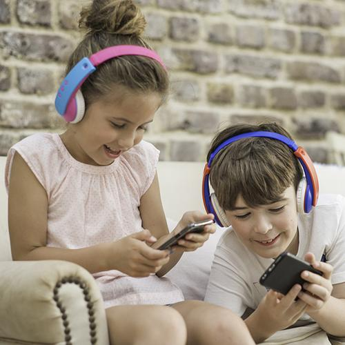 JVC Tiny Phones Kids Wireless Bluetooth Headphones - Blue/Red