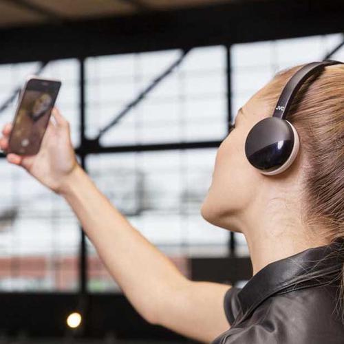 JVC Flats Wireless Bluetooth Headphones (S20BT) - Black