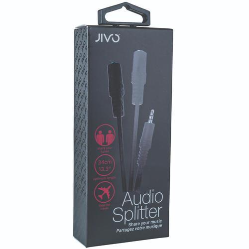 Jivo Audio Splitter - Black