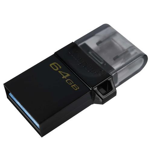 Kingston 64GB DataTraveler Micro Duo 3 Gen2 Android OTG USB 3.2 Flash Drive