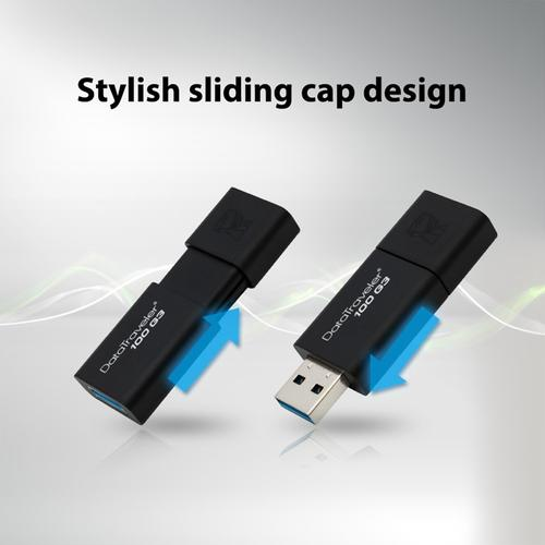 Kingston 128GB DataTraveler 100 G3 USB 3.1 Flash Drive - 130MB/s