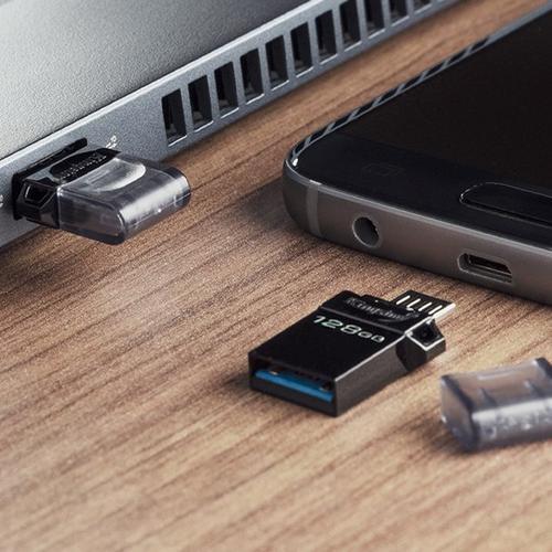 Kingston 128GB DataTraveler Micro Duo 3 Gen2 Android OTG USB Flash Drive