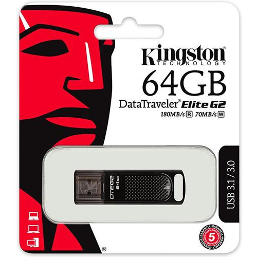 Kingston 64GB DataTraveler Elite G2 USB 3.0/3.1 - Metal Casing