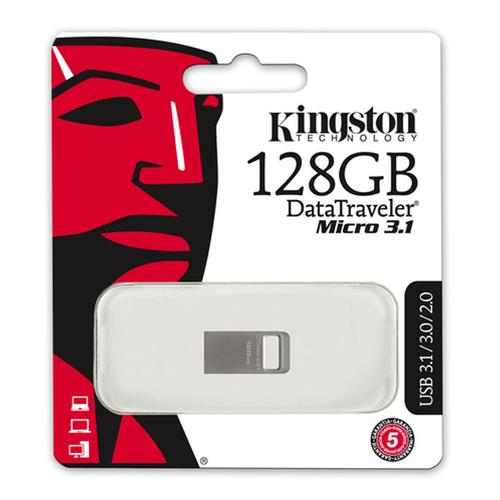Kingston 128GB DataTraveler Micro 3.1 USB 3.0 Flash Drive - 100Mb/s