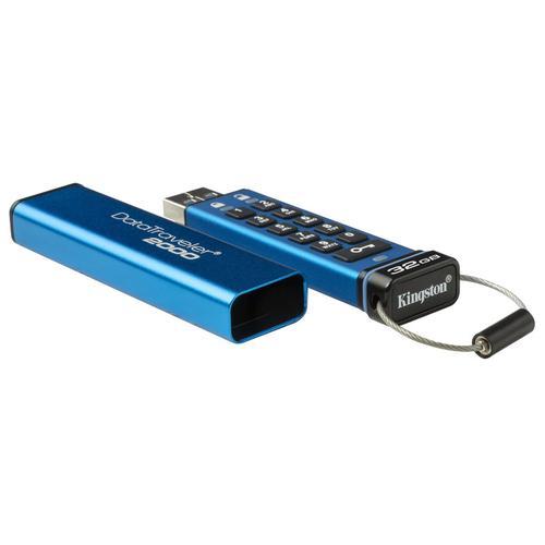 Kingston 32GB DataTraveler 2000 Encrypted Keypad USB 3.1 Flash Drive  - 135MB/s