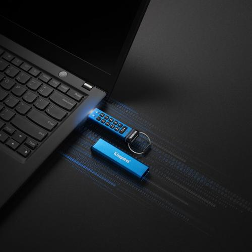 Kingston 128GB DataTraveler 2000 Encrypted Keypad USB 3.1 Flash Drive  - 135MB/s