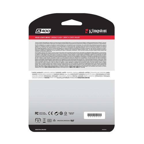 """Kingston 240GB A400 2.5"""" SATA III SSD Drive - 500MB/s"""