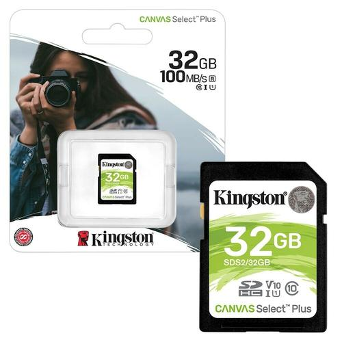 Kingston 32GB Canvas Select Plus SD Card (SDHC) UHS-I U1 - 100MB/s