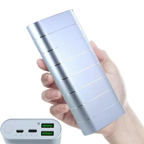 LOVE M.E Charge Me 20000mAh 2.1A Portable Power Bank - Silver