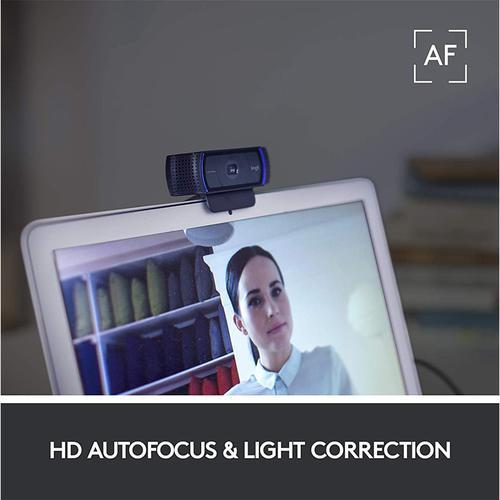 Logitech C920s PRO HD 1080p Privacy Webcam - Black