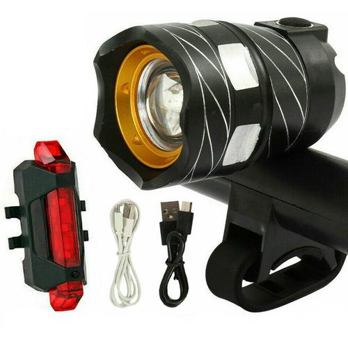 LED USB Rechargeable Front & Rear Bicycle Lights